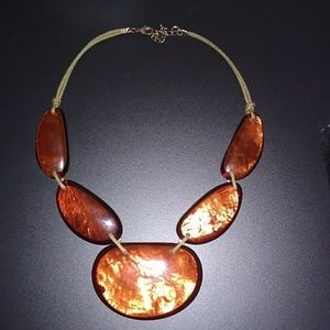 Necklace looks like amber from Macy's